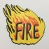 Judge Fire Badge Coaster primary image