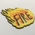 Judge Fire Badge Coaster image