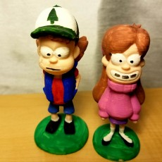 Picture of print of Dipper and Mabel from Gravity Falls