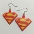 Superman Logo Earrings image