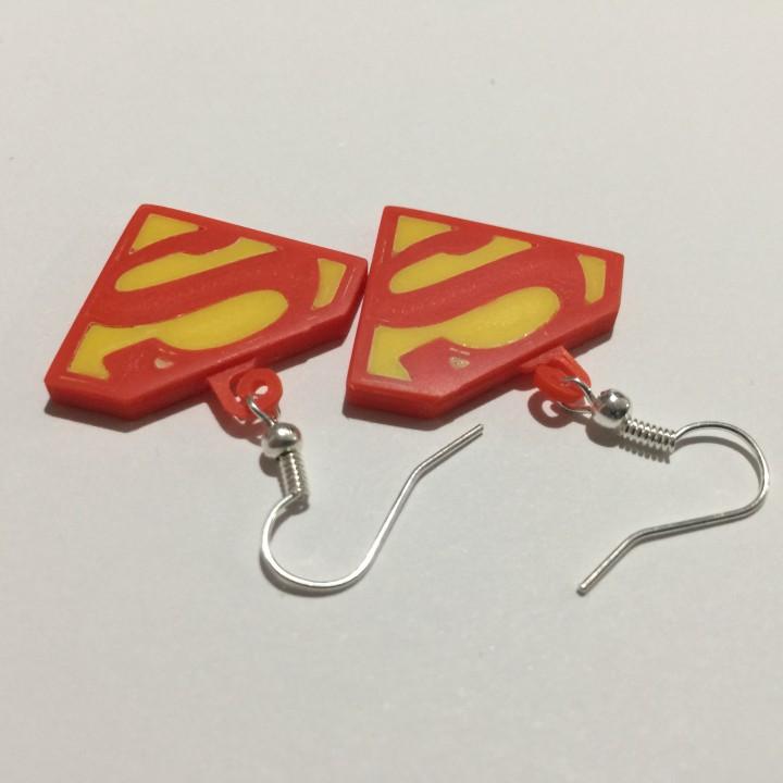 Superman Logo Earrings