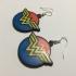 Wonder Woman Logo Earrings image