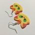 Kawaii Kitten Earrings (Ginger Tabby) image