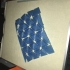 Triangle Mesh Fabric print image