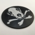 Furry Pirate Flag Coaster image