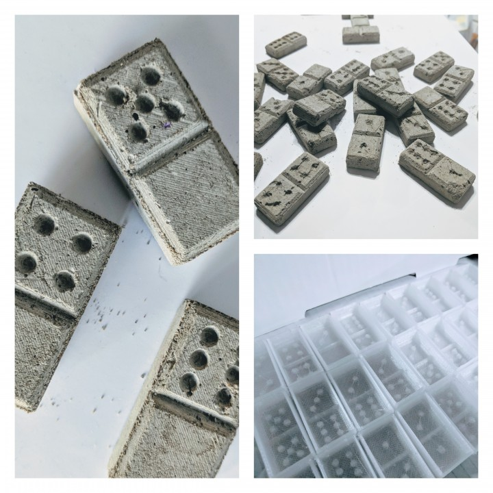 Flexi-Moulds for Concrete Dominoes