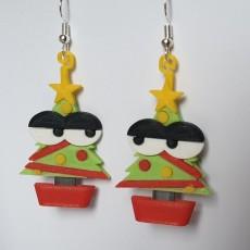 Picture of print of Kawaii Xmas Tree Earrings