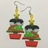 Kawaii Xmas Tree Earrings image