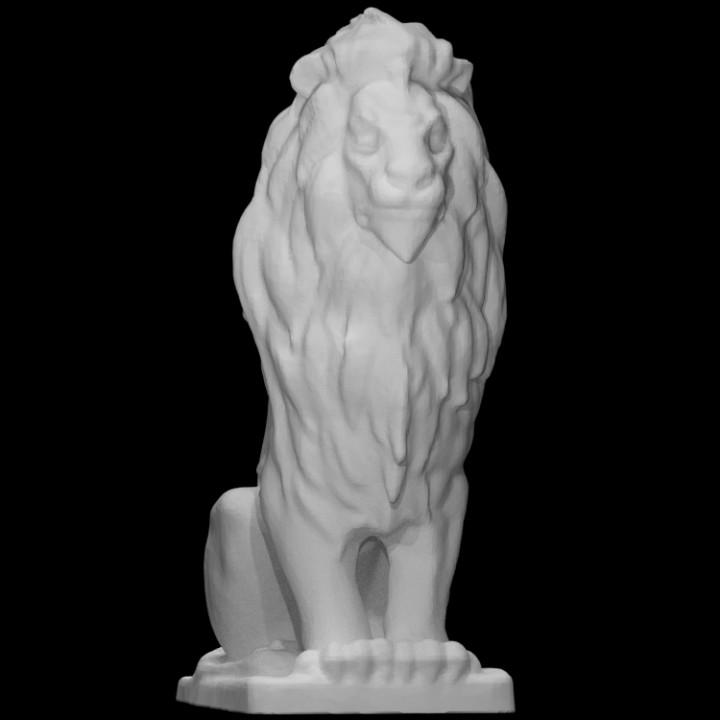 Capital Grille Lion
