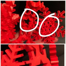 Picture of print of Vase Mode Origami Snowflake Bauble