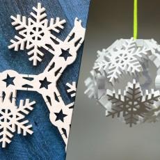 Vase Mode Origami Snowflake Bauble