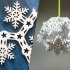 Vase Mode Origami Snowflake Bauble primary image
