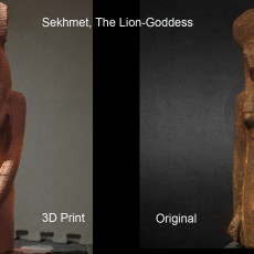Picture of print of Sekhmet, the Lion-goddess