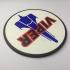 Battlestar Galactica Viper Patch Coaster image