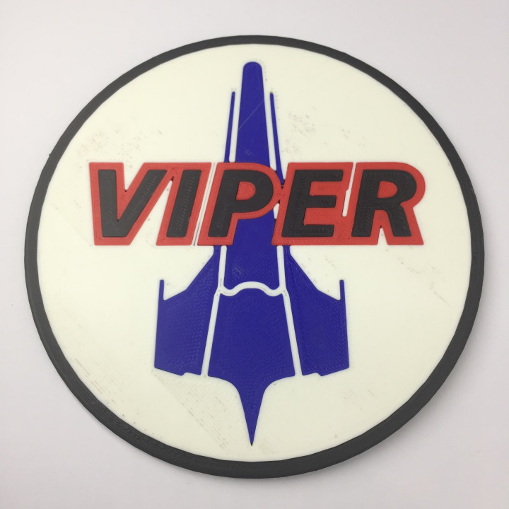 Battlestar Galactica Viper Patch Coaster