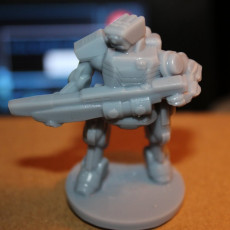 Picture of print of C-Series Cyclops Automated Militia (18mm scale)