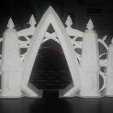 Picture of print of Elvish Gateway (18mm scale)