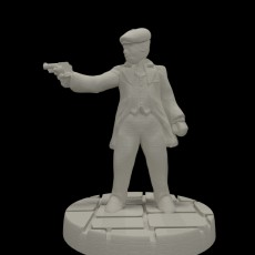 Peaky Blinder w/revolver (15mm scale)