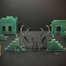 Ruined Arcane Wall (15mm scale)