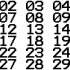 TERMINAL Font Numbers (01-30) image