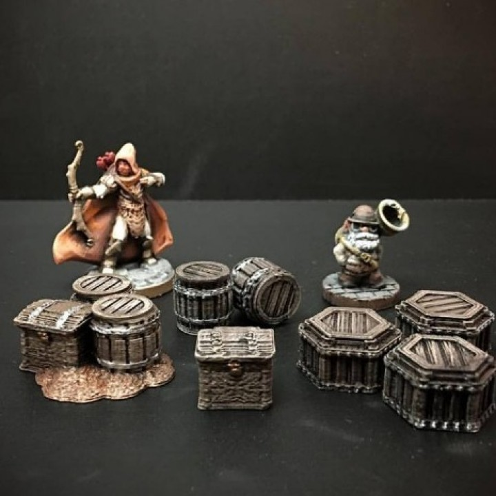 Delving Decor: Dwarven Loot Markers (28mm/Heroic scale)