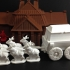 Elk-Drawn Wagon (18mm scale) primary image