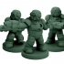 Mercenary Troopers in Enviro-Armor (18mm scale) image