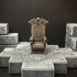 Delving Decor: Wolf Throne (28mm/Heroic scale) primary image