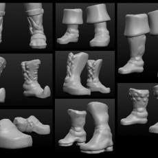 Sculptris OBJ Bits: Fantasy Shoes and Boots