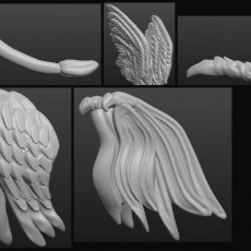 Sculptris OBJ Bits: Wings and Tails