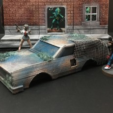 Derelict Station Wagon (28mm/Heroic scale)