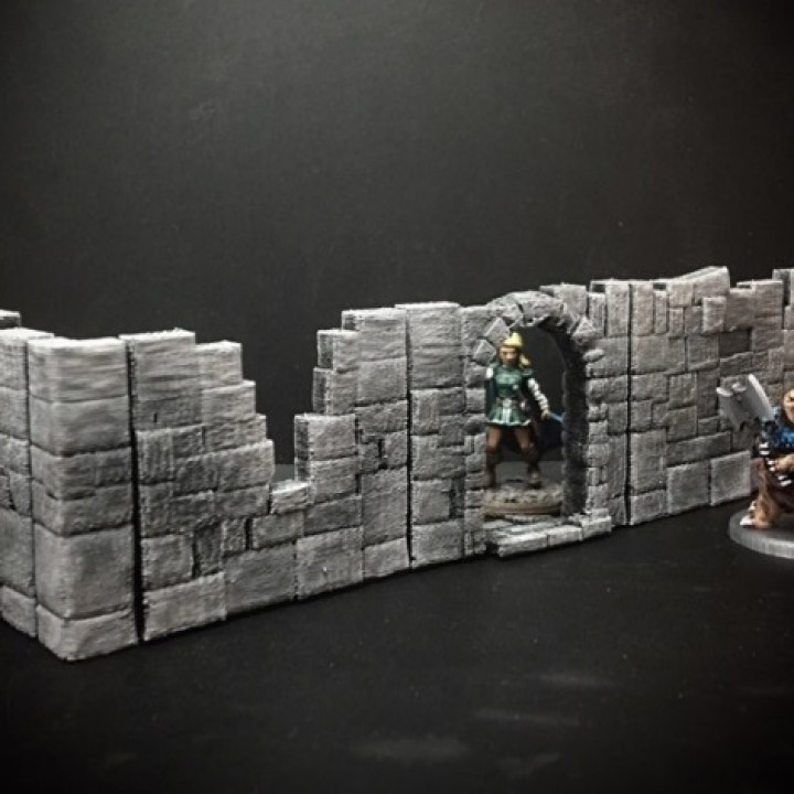 Delving Decor: Basic Ruin Walls (28mm/Heroic scale)