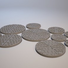 Z.O.D. Starship Theme Bases (28mm/Heroic scale)