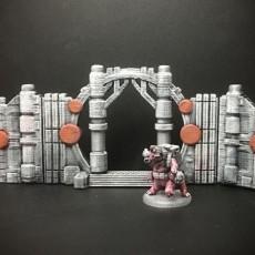 Z.O.D. Sci-Fantasy Walls (28mm/Heroic scale)