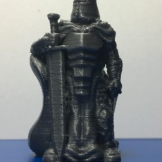 Picture of print of Knight w/Greatsword (28mm/Heroic scale)