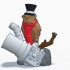 Steampunk Owl Ornament image