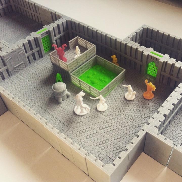 Wayfarer Modular Scifi Gaming Tiles: Core Set
