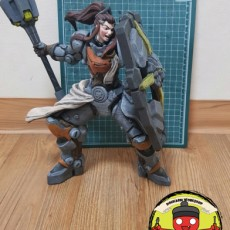 Picture of print of Overwatch - Brigitte - 30 cm Model. 这个打印已上传 bseomseo.oh