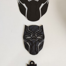 Picture of print of Black Panther Mask Coaster