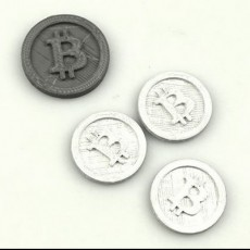 Picture of print of Bitcoin Cryptocurrency Token