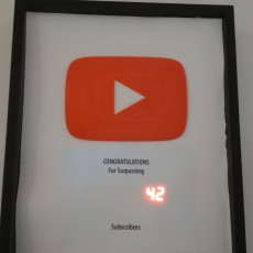 Picture of print of YouTube Play Button Pegboard Logo