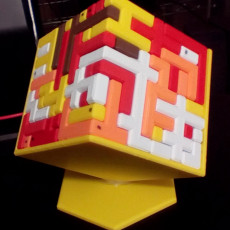 Picture of print of S U P E R C U B E      10x10 Puzzle Cube This print has been uploaded by T W