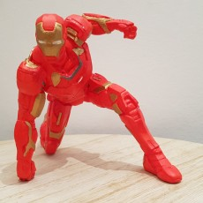 Picture of print of IRONMAN MK42 - Super Hero Landing Pose - 20 CM base This print has been uploaded by Bouchaud Romain