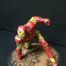 Picture of print of IRONMAN MK42 - Super Hero Landing Pose - 20 CM base This print has been uploaded by John Buckley