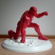 Picture of print of IRONMAN MK42 - Super Hero Landing Pose - 20 CM base This print has been uploaded by Peter Szoke