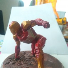 Picture of print of IRONMAN MK42 - Super Hero Landing Pose - 20 CM base This print has been uploaded by Andrzej