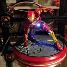Picture of print of IRONMAN MK42 - Super Hero Landing Pose - 20 CM base 这个打印已上传 The Forry