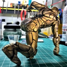 Picture of print of IRONMAN MK42 - Super Hero Landing Pose - 20 CM base This print has been uploaded by rafael