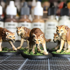 Picture of print of Wolf Pack - 3 models - PRESUPPORTED - 32mm scale