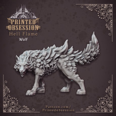 Fire Wolf - Monstrous Creature - DnD - 32mm scale